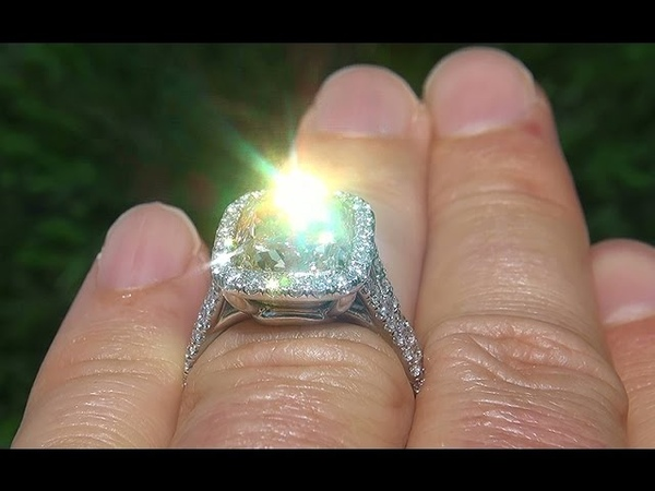 EGL USA Certified 6 07 Carat Natural Fancy Yellow Diamond Engagement Ring 18k Gold A135303
