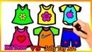 Coloring 6 children's clothes Painting for toddlers and drawing for kids Vs Jolly Toy Art ☆ 247