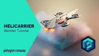 Avengers Helicarrier - Blender 2.8 Lowpoly Isometric Timelapse Tutorial