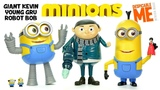 Despicable Me Minions Giant Kevin Young Gru &amp Robot Bob UnBoxing Deluxe Action Figures
