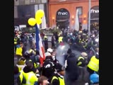Law enforcement forces gas protesters for no reason.