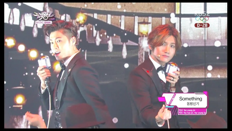 TVXQ! 동방신기 'Something' KBS MUSIC BANK 2014.01.10