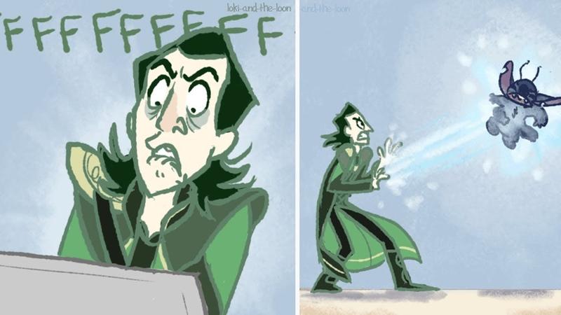 Funny Loki Tom Comics Loki And The Loon Stitch