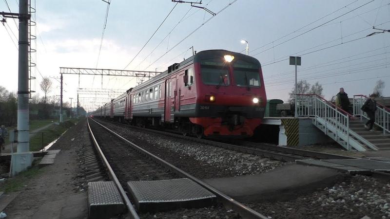 Электропоезд ЭД4М-0359 станция Петелино