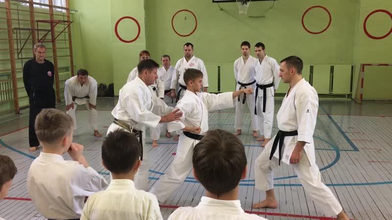 На семинаре Сенсея Сизова 8 Дан JSKA