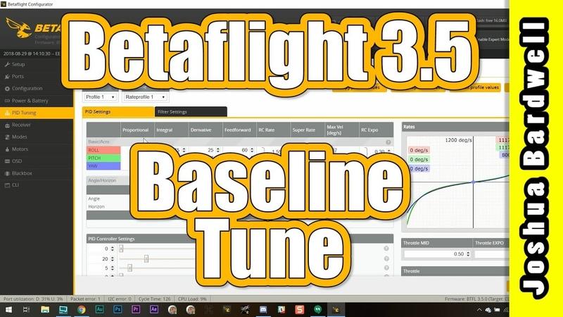 Betaflight 3.5 Baseline PID Tune   NO BLACKBOX DANG IT