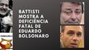 Battisti mostra a deficiência fatal de Eduardo Bolsonaro