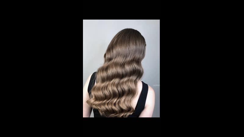 Голливудская волна и смоки макияж