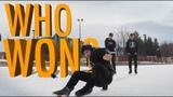 ICE BREAK BATTLE! With Freestyle Ice Skater Jonas!
