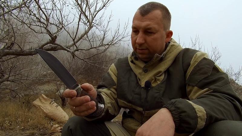 Нож 007 кузнеца Пампуха И.Ю из нержавеющего булата. Обзор.