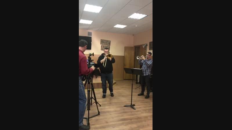 BOOM BRASS BAND - на репетиции, съемки на НТВ