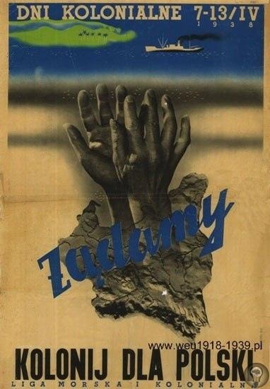 Польская попытка колонизации Африки. ФОТО 1. Флаг Морской и Колониальной Лиги. Возрождённое в 1918 году польское государство оказалось в сложном положении уже в первые годы своего существования