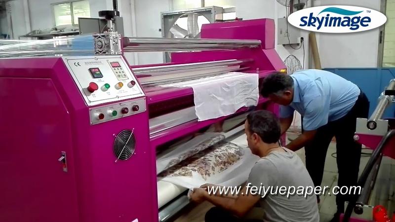 Пробная сублимационная бумага с роторной машиной для теплопередачи для домашнего текстиля