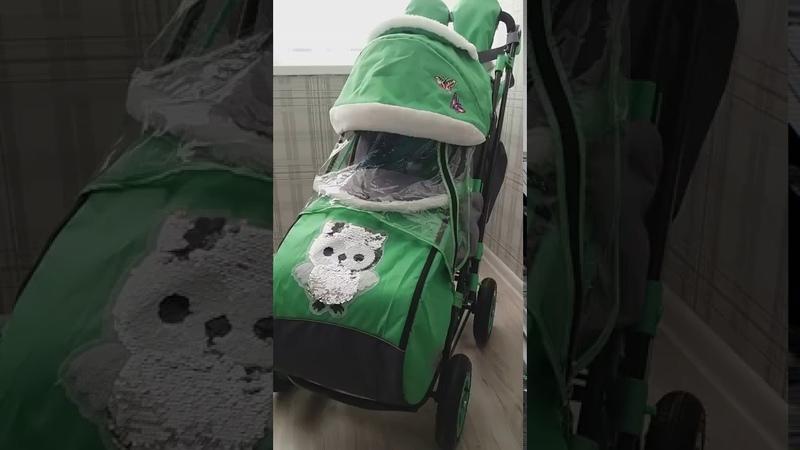 Galaxy city 2-1 санки-коляска с надувными колесами