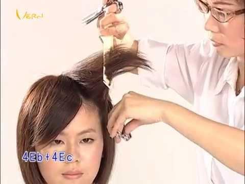 輕柔瀏海短髮女孩髮型,時尚對比髮型教學影片,韋恩智慧型組合剪刀-CTS Hairstyle 03(2