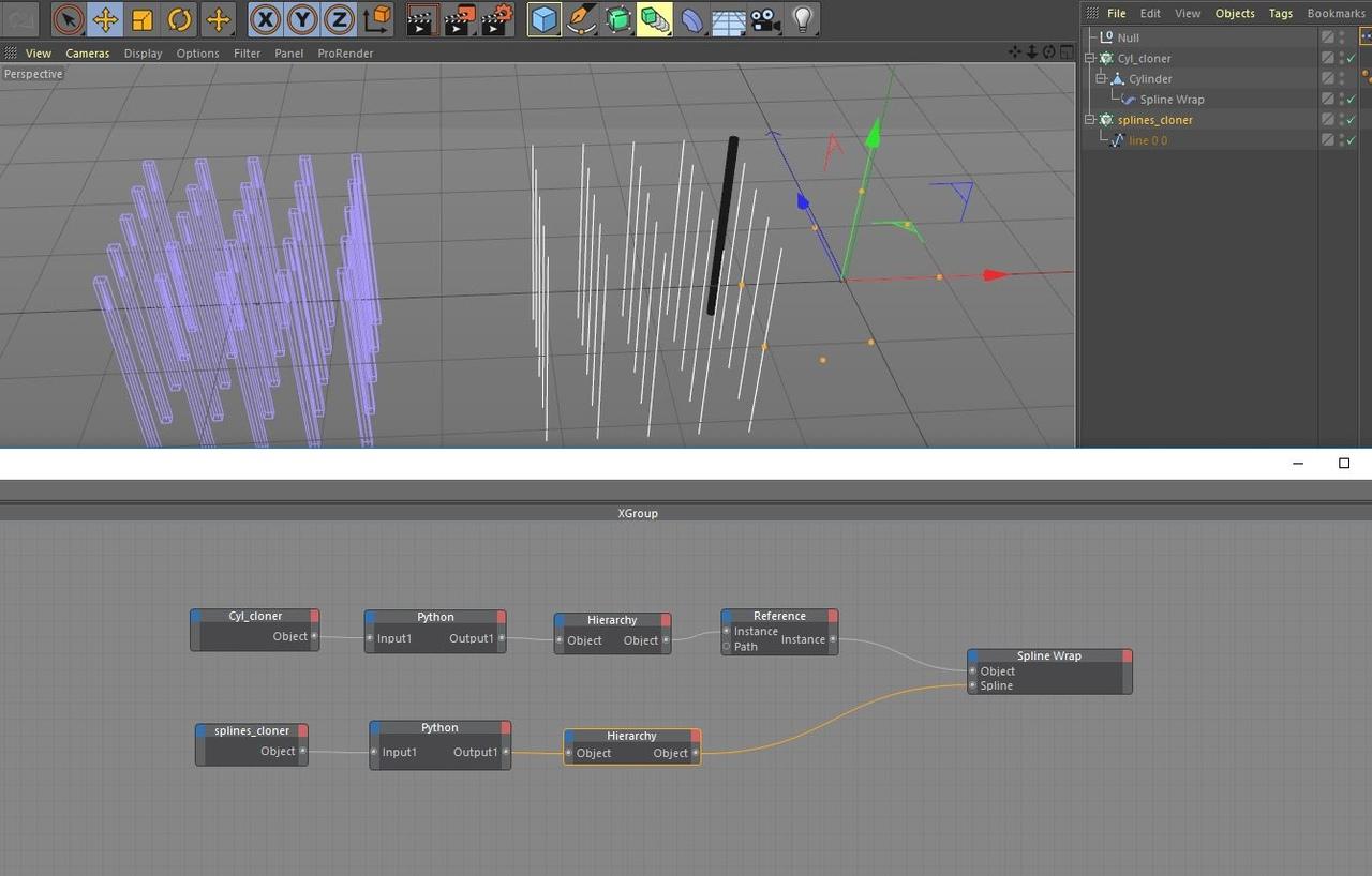 spline object to spline wrap via XPresso : Maxon Cinema 4D