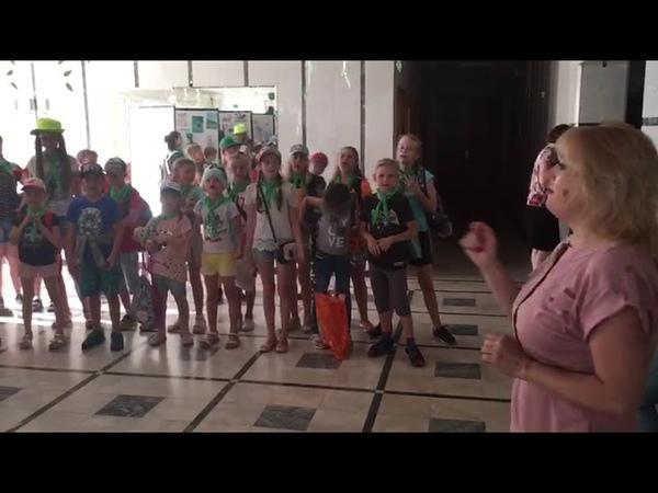 Вечерняя линейка в летнем лагере ЦРТДЮ Фантазеры