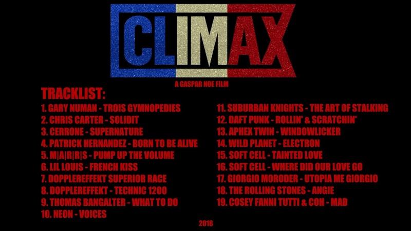 CLIMAX 2018 SOUNDTRACK Gaspar Noé's new film