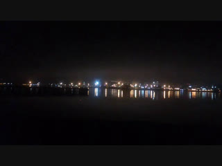 ночной вид на Мурманск с Абрам-Мыса