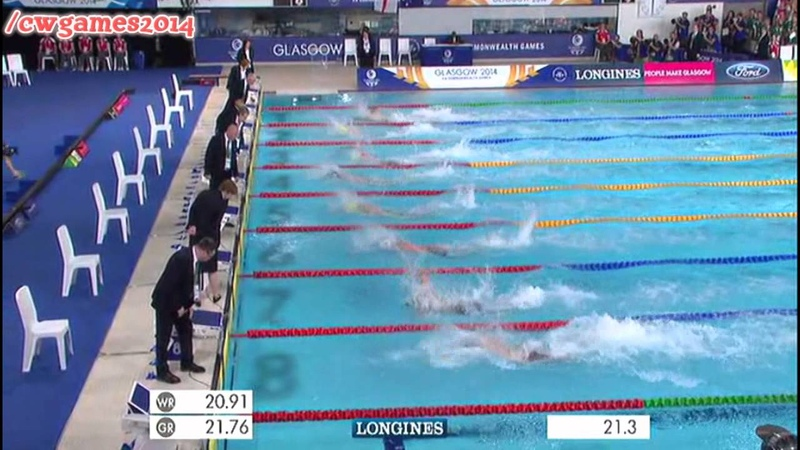 Men's 50m Freestyle Final | Commonwealth Games | 29th July 2014
