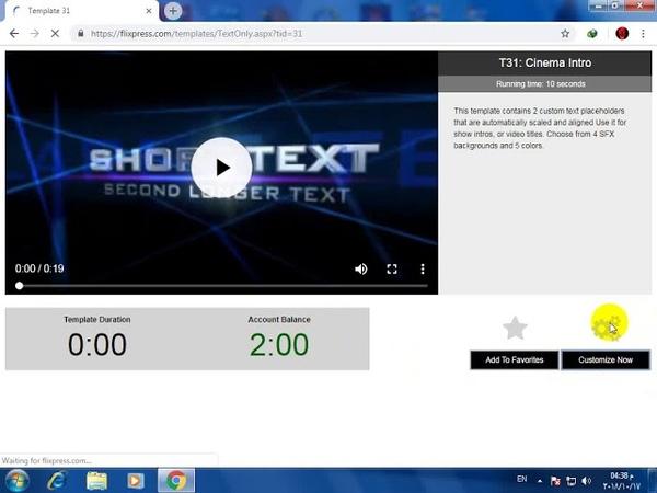 كيفية عمل مقدمه للفيديو علي اليوتيوب بطري16
