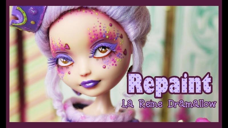 Ever After High Repaint - Reine Dramallow - Sugar OOAK Doll - English sub