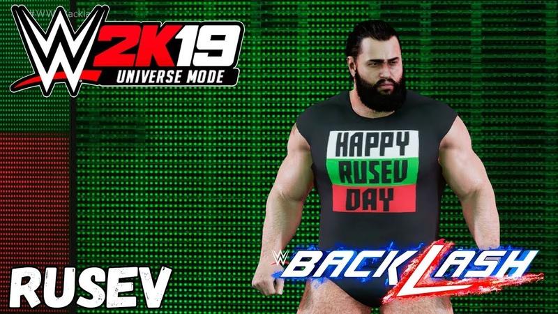 WWE 2K19 Universe Mode Back Lash Rusev VS AJ Styles Русская озвучка 14