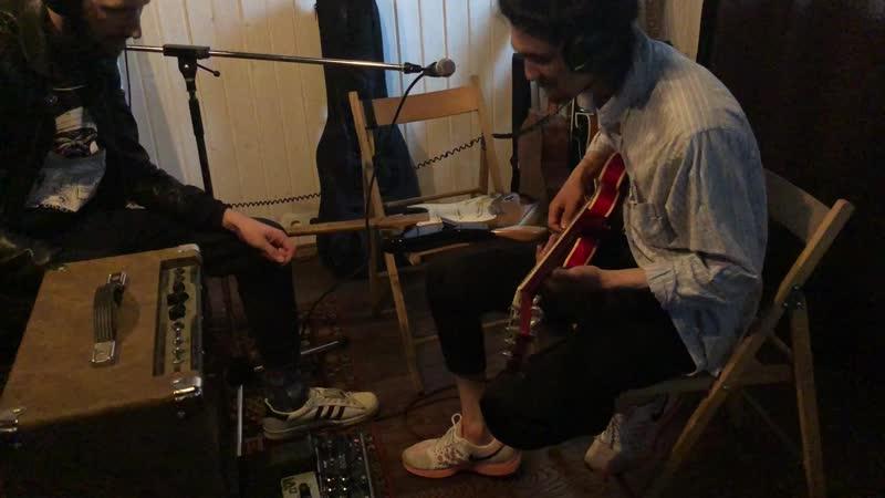 Андреграунд - Дальше спрячьте чувства. Запись соло гитары. Студия POWERHOUSE
