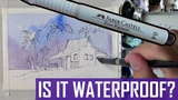 Is It Waterproof? Faber-Castell Ecco Pigment Test