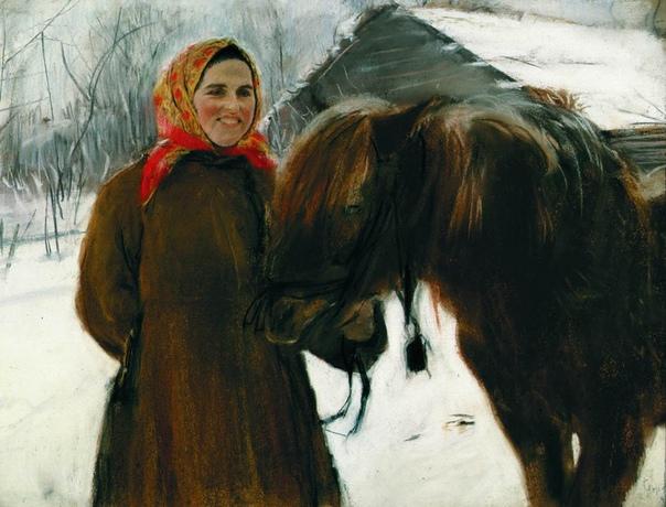 История одного шедевра. «Баба с лошадью», Валентин Серов