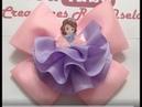 Moño con resina de princesa sofia VIDEO No 639 Creaciones Rosa Isela