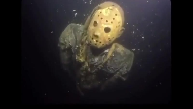 Someone dropped a statue of Jason Voorhees at the bottom of Crystal Lake, Minnesota (one of the most popular diving spots around