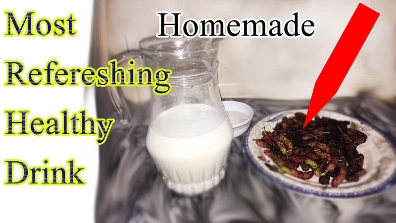 How to Make Mulberry shake   Shahtoot Milkshake MULBERRY   MILKSHAKE RECIPE   Desi Foodpedia