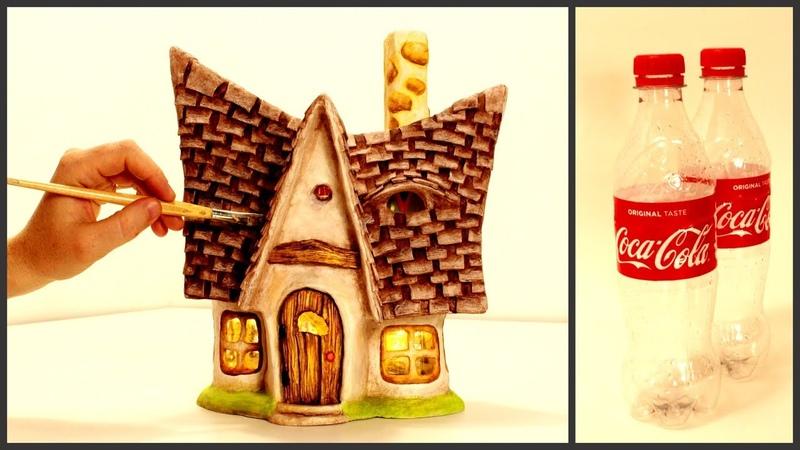 ❣DIY Little Fairy House Lamp Using Coke Plastic Bottles❣
