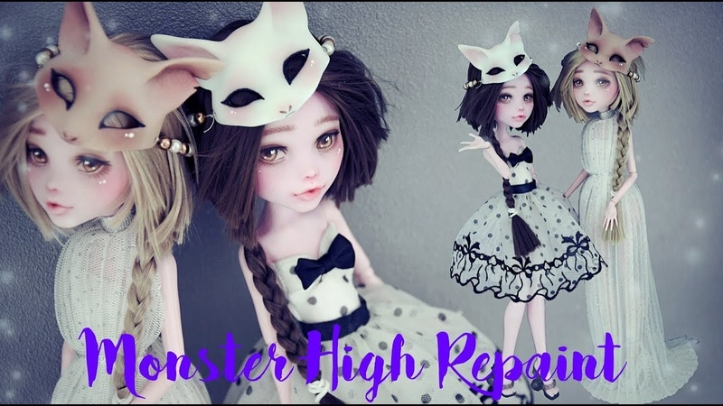 MONSTER HIGH REPAINT FOX SISTERS WORK IN PROGRESS (English sub)