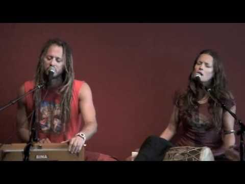 Bhakti Yoga Shala opening Govindas Radha sing Hanuman Chalisa part1