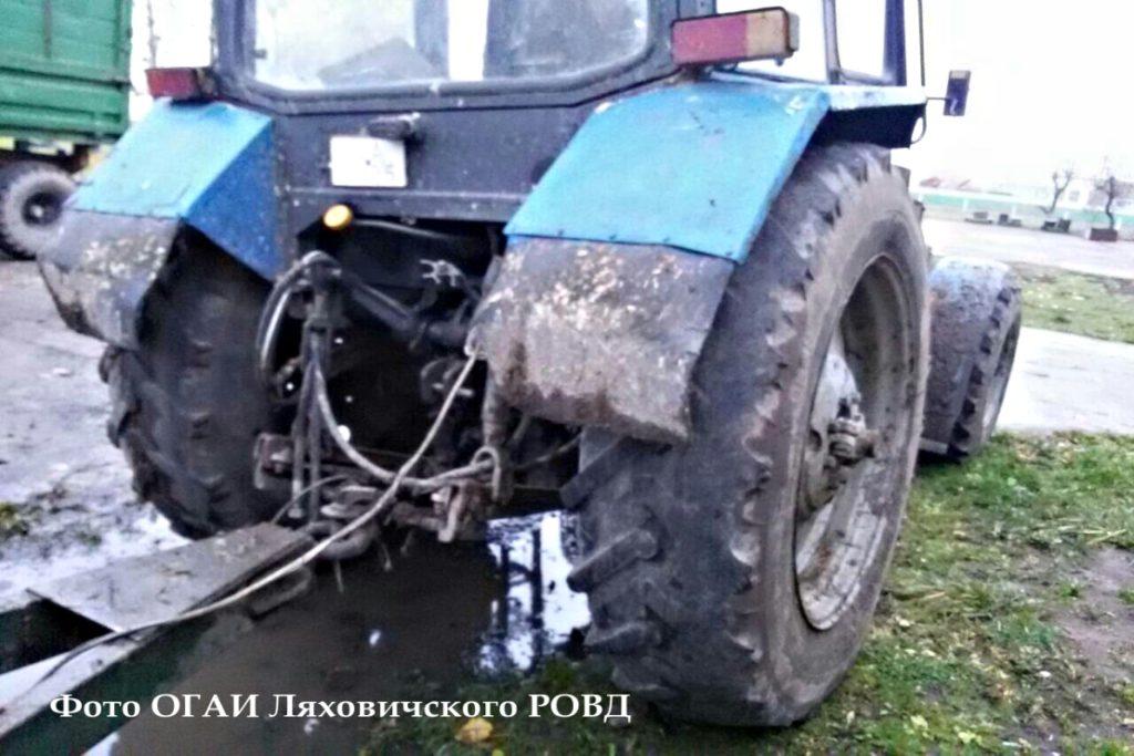В Ляховичском районе в ходе преследования задержан тракторист: 5,4 промилле алкоголя