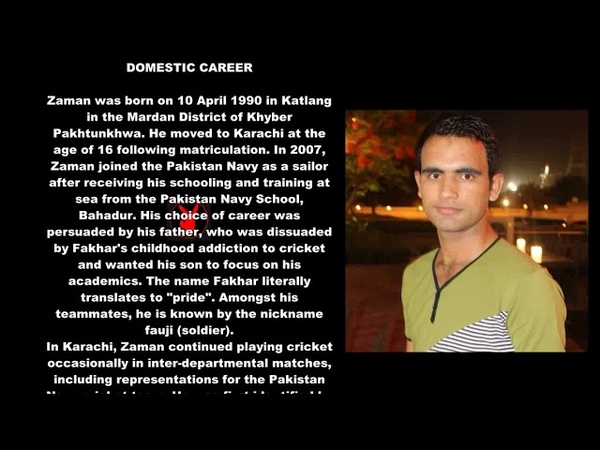 Pakistani Cricketer (Fakhar Zaman) Biography Detail