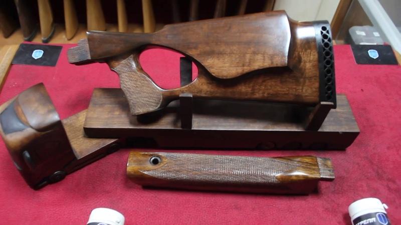 Удобный ортопедический приклад и цевье на карабин САЙГА 7 62 из Красного Дерева