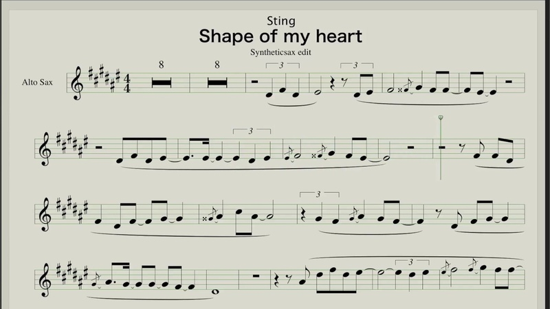 Sting - Shape of my heart - Sheet music for Saxophone Alto Tenor