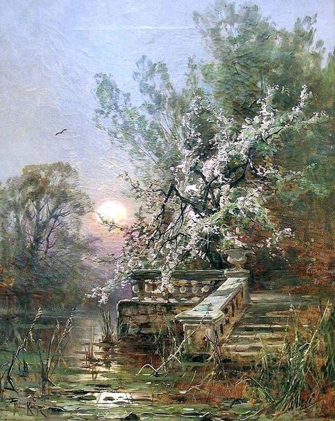 « одного шедевра». «Вид запущенного парка в Мариенбурге» (Старый парк), Юлий Юльевич Клевер