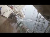 Крен в 40 градусов. Парусник Надежда летит на всех парусах во Владивосток.