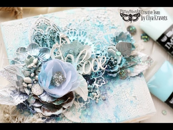 Step-by-step video tutorial canvas with Impasto Paints for Finnabair