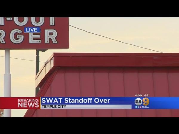 Burglar Surrenders In SWAT Standoff At Temple City In-N-Out