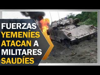 Fuerzas yemeníes atacan con misiles a militares saudíes