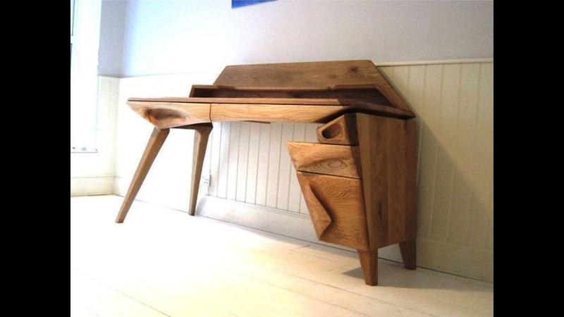 Столик из дуба для компьютера, своими руками, 2018, Oak table for computer