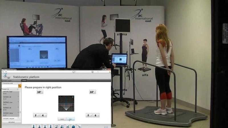 Практические занятия на стабилометрической платформе Alfa (AC International, Польша))