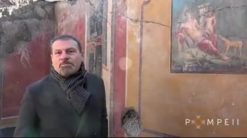 Новая находка в Помпеях фреска с Нарциссом