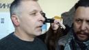 Люди Вилкула выталкивают из зала участника российско -украинской войны
