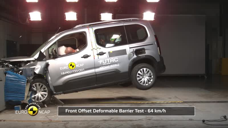 Краш тест Euro NCAP Peugeot Rifter
